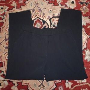 Trina Turk Trousers | Elastic Waist | Black | L